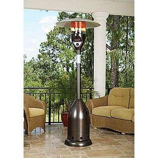 47,000 BTU Deluxe Old World Bronze Finish LPG Patio Heater  Fire Sense
