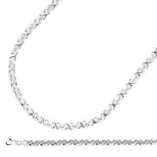 Hearts Kisses Bracelet Necklace Set 925 Sterling Silver