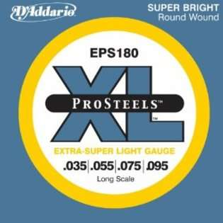 ProSteels Bass Guitar Strings, Extra Super Light, 35 95, Long Scale