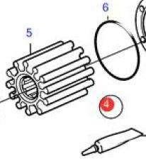 OEM Volvo Penta D6 Diesel Sea Water Pump Impeller Kit 21422649