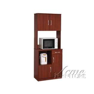 Acme furniture louis philippe cherry makeup vanity bench for Acme kitchen cabinets