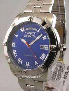 MENS INVICTA STEEL SPORT 10 ATM DAY DATE NEW WATCH 5259 843836052597