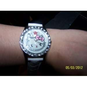 Hello Kitty Face Watch Black Wristband