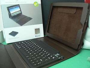 h194 Wireless Bluetooth Keyboard Leather Stand/Case For Apple iPad 2