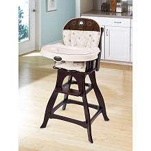 Carters Classic Comfort Reclining Wood High Chair Safari Friends