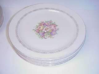 ANTIQUE EDWIN KNOWLES DINNER PLATES SET OF SIX 1939