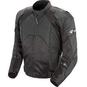 Joe Rocket Radar Leather Race Jacket   56/Black/Black