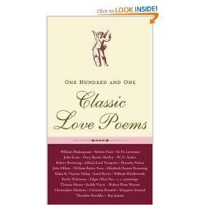 101 Classic Love Poems (9780071419291): McGraw Hill: Books