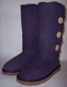 UGG Australia 1873 New In Box Size 5 Bailey Button Triplet Boots Navy