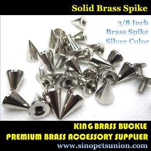 100 Cone Spikes Screwback Spike Studs Leathercraft 3/8