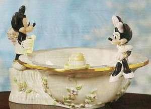 Lenox Disney MICKEY & MINNIE AFTERNOON PICNIC BOWL nib