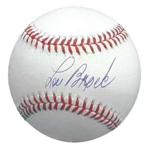 MLB Cardinals Lou Brock # 20 Autographed Baseball Sports