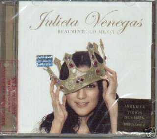 JULIETA VENEGAS, REALMENTE LO MEJOR. FACTORY SEALED IN SPANISH CD.