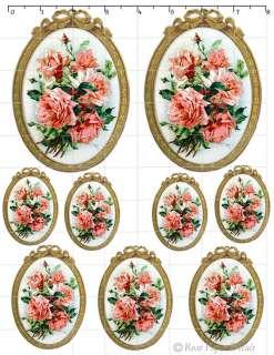 De Klein 1 Vintage Klein Chic Frame Rose Shabby Style 9 Decals