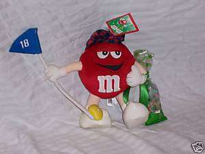 2003 USED RED 9 INCH M&MS STUFFED PLUSH DOLL TOY