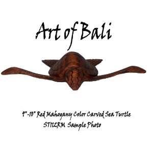 Art of Bali Zen Garden Carved 10 Hand Carved Sea Turtle