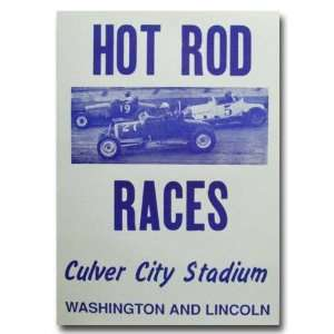 1951 Culver City Stadium Hot Rod Races Poster Print