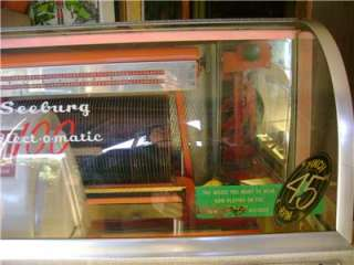 WORKING SEEBURG B JUKEBOX~FROM 1950~~1st SEEBURG to play 45s