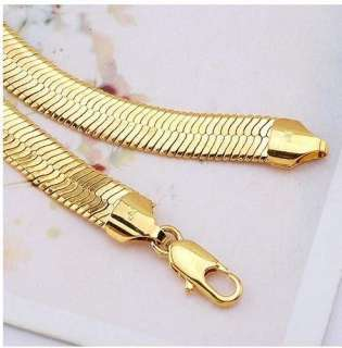 gold filled mens necklace 20.6 snake chain link 5mm wide GF jewelry