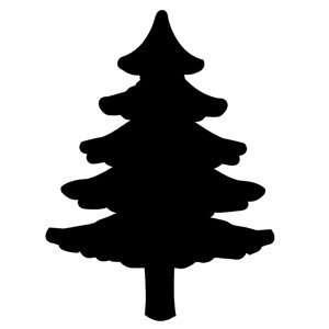 Vinyl Shutter Decal   Large Pine Tree