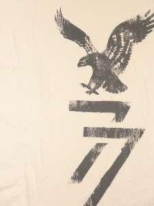 American Eagle Mens Ivory Long Sleeve Icon T Shirt NWT