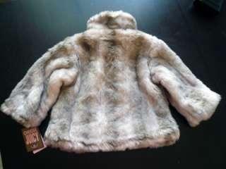 Authentic Juicy Couture Baby Girl Blonde Faux Fur Jacket Coat Size 18M