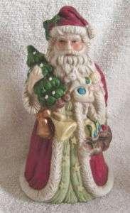 Vintage Porcelain Santa Claus Figurine Music Box
