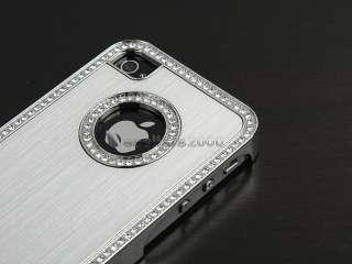 Aluminum Chrome Hard Case Cover F iPhone AT&T Verizon Sprint 4S 4G