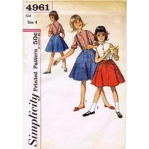 Pattern Girls Blouse & Wrap Around Skirt Size 8: Arts, Crafts & Sewing