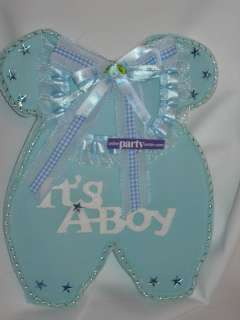 BOY BABY SHOWER BABY FOAM OUTFIT CENTERPIECE 9 IN BLUE