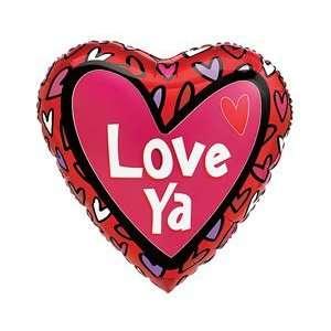 Love Ya Pink Valentines Day Heart 18 Mylar Balloon
