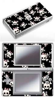 Nintendo DS Lite  Girly Skulls Skin. Pink bow rockabilly skull girl