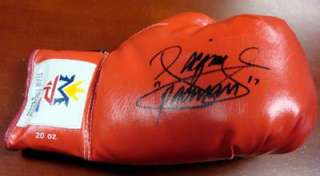 MANNY PACQUIAO AUTOGRAPHED SIGNED RED TEAM PACQUIAO BOXING GLOVE PSA