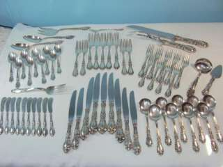 STERLING SILVER Flatware PRINCE EUGENE Pattern incl 9 Serving Pcs cp
