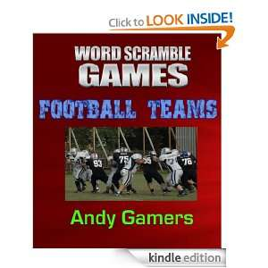 WORD SCRAMBLE GAMES FOOTBALL TEAMS  Sport Series For Family Fun And