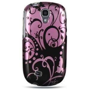Hard Snap on Shield PURPLE BLACK SWIRL Design Faceplate Cover Sleeve