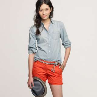 Faded chambray shirt   casual shirts   Womens shirts & tops   J.Crew
