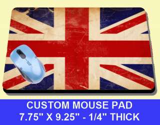 NEW DISTRESSED UNION JACK ENGLISH FLAG MOUSE PAD COOL