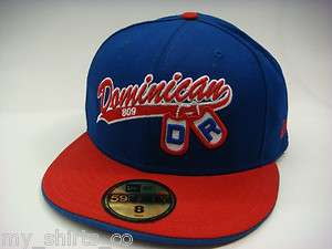 Dominican Republic Blue Red White 2 Tone Dog Tag 809 New Era Fitted