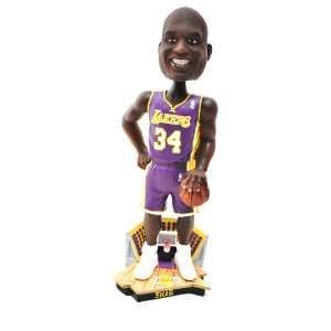 Shaq Oneil #34 Official NBA courtside 12 Bobble Head LA Lakers purple