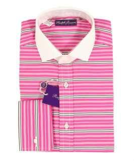 Ralph Lauren Purple Label Pink Striped Dress Shirt 15 New $475