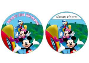 MICKEY MOUSE BIRTHDAY PARTY NAMETAGS INVITATIONS