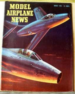 VINTAGE MODEL AIRPLANE NEWS MAGAZINE AUGUST 1952 FRENCH MYSTERE