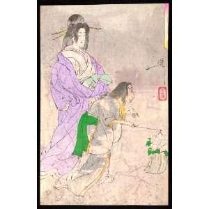 Japanese Print Botandoro. TITLE TRANSLATION: Peony lantern