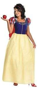 SNOW WHITE Adult Costume Gown Disney Princess Plus 1/2x