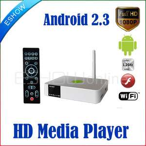 Android 2.3 HD Media Player HUB Google WiFi MKV 1.2GHz Flash H.264 TV