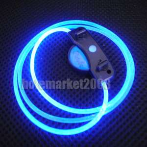 LED Up Shoelaces Disco Flash Lite Glow Stick Neon Blue