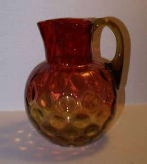 1880s Antique AMBERINA Glass Water Pitcher