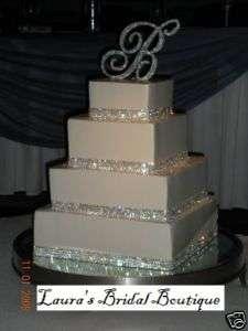 Foot 5 Row Rhinestone Crystal Wedding Cake Ribbon