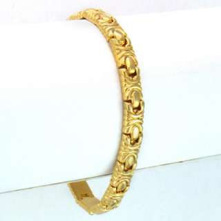 HF103 26g Men/Lady 18k Gold GP Bracelet Thick Chain 8
